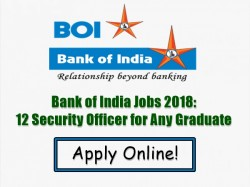Bank India Jobs 2018 12 Security Officer Any Graduate