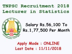 Tnpsc Recruitment 2018 Apply Online Lecturer Statistics Post