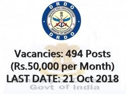 Drdo Recruitment 2018 494 Drdo Vacancy Assistant