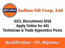 Iocl Recruitment 2018 Indian Oil Hire 441 Apprentices Here