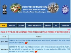 Rrb Group D 2018 Admit Cards October 12 Exam Released Here