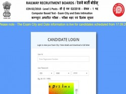 Rrb Group D Admit Card 2018 Out Download Railway Admit Card