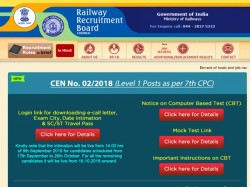 Rrb Group D Admit Card Released October 22 26 Exams Available On These Websites