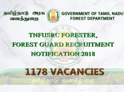 Tnfusrc Forester Forest Guard Notification 2018 1178 Vacancies