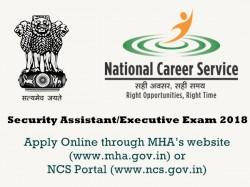 Intelligence Bureau Recruitment 2018 1054 Security Assistant