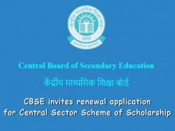 Cbse Invites Renewal Application Central Sector Scheme Scholarship