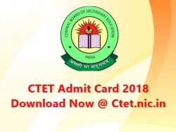 Ctet Admit Card 2018 Download Now At Ctet Nic In