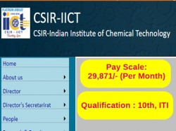 Indian Institute Chemical Technology Recruitment 2018 Apply