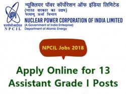 Npcil Jobs 2018 Apply Online 13 Assistant Grade I Posts