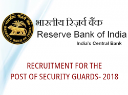 Rbi Recruitment Security Guard Check Notification Apply Onl