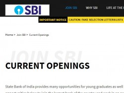 Recruitment Specialist Cadre Officers State Bank India