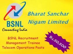 Bsnl Recruitment Management Trainee Telecom Operations 300 Posts