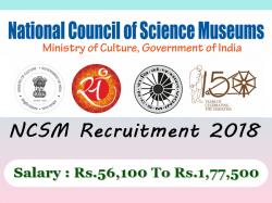 Ncsm Recruitment 2018 Apply 5 Job Vacancies 31 December