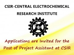Applications Are Invited The Post Project Assistant At Csir