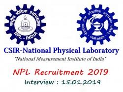 Job Csir National Physical Laboratory Npl Recruitment
