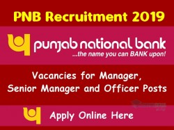 Pnb Recruitment 2019 325 Vacancies Manager Senior Manager