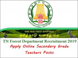 Tn Forest Department Recruitment 2019 Apply Online Seconda