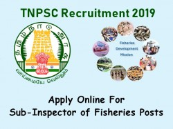 Tnpsc Recruitment 2019 Apply Online 06 Sub Inspector Fishe