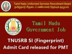 Tnusrb Si Fingerprint Hall Ticket Admit Card Released Pmt D