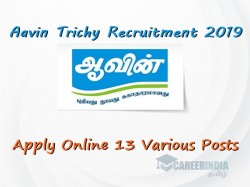 Aavin Trichy Recruitment 2019 Apply Online 13 Various Post