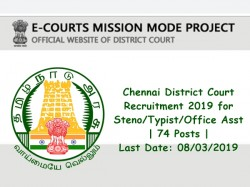 Chennai District Court Recruitment 2019 Steno Typist Office