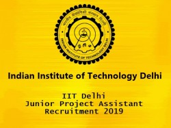 Iit Delhi Junior Project Assistant Recruitment 2019 03 Vac