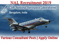 Nal Recruitment 2019 Various Consultant Posts Apply Online