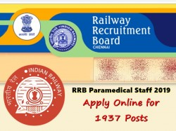 Rrb Paramedical Staff 2019 Apply Online 1937 Posts