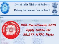 Rrb Recruitment 2019 Apply Online 35277 Ntpc Posts