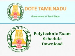 Tndte Diploma April Exam Time Table 2019 Dote Polytechnic Ex
