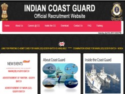 Indian Coast Guard Admit Card 2019 Released Download Here