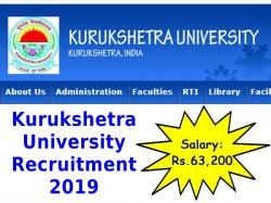 Kurukshetra University Recruitment 2019 Apply Online For