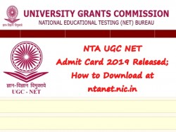 Nta Ugc Net Admit Card 2019 Released How To Download At Nta