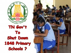 Tamil Nadu Government To Shut Down 1848 Primary Schools With