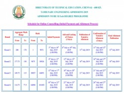 Tnea 2019 Online Counselling Schedule Released