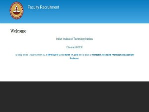 Iit Madras Recruitment 2018 Apply Online Various Teaching Faculty Posts