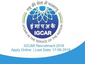 Igcar Invites Application Various Vacancies