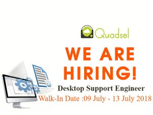 Quadsel Systems Walk In For Desktop Support Engineer