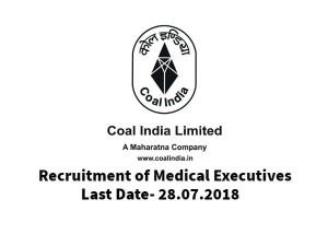 Coal India Invites Application For Medical Executives Post