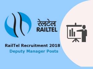 Railtel Recruitment 2018 Notification Apply Online At Www Railtelindia Com