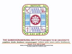 Gandhigram Rural Institute Invites Application For Junior Research Fellow