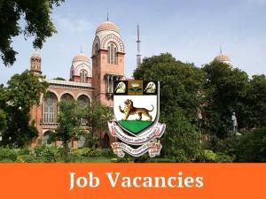 Chennai University Recruitment 2018 Dean Director Coordinat
