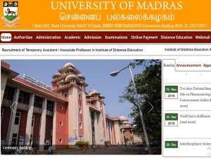 Madras University Postponed Exam Date Diwali 2018