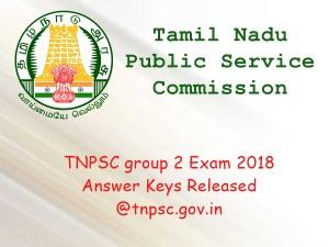 Tnpsc Group 2 Exam 2018 Answer Keys Released Tnpsc Gov In
