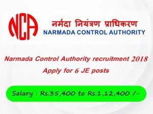 Narmada Control Authority Recruitment 2018 Apply 6 Je Posts