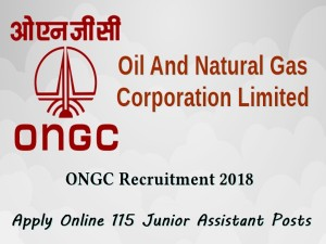 Ongc Recruitment 2018 Apply Online 115 Junior Assistant Po