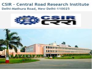 Central Road Research Institute Recruitment 2019