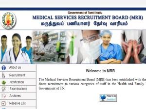 Mrb Tamil Nadu Recruitment Notification 2019 2345 Nurses P