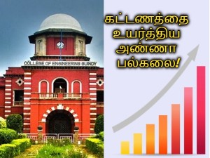 Anna University To Increase Fees This Year Upto 20 Thousands
