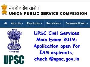 Upsc Civil Services Main Exam 2019 Application Open For Ias